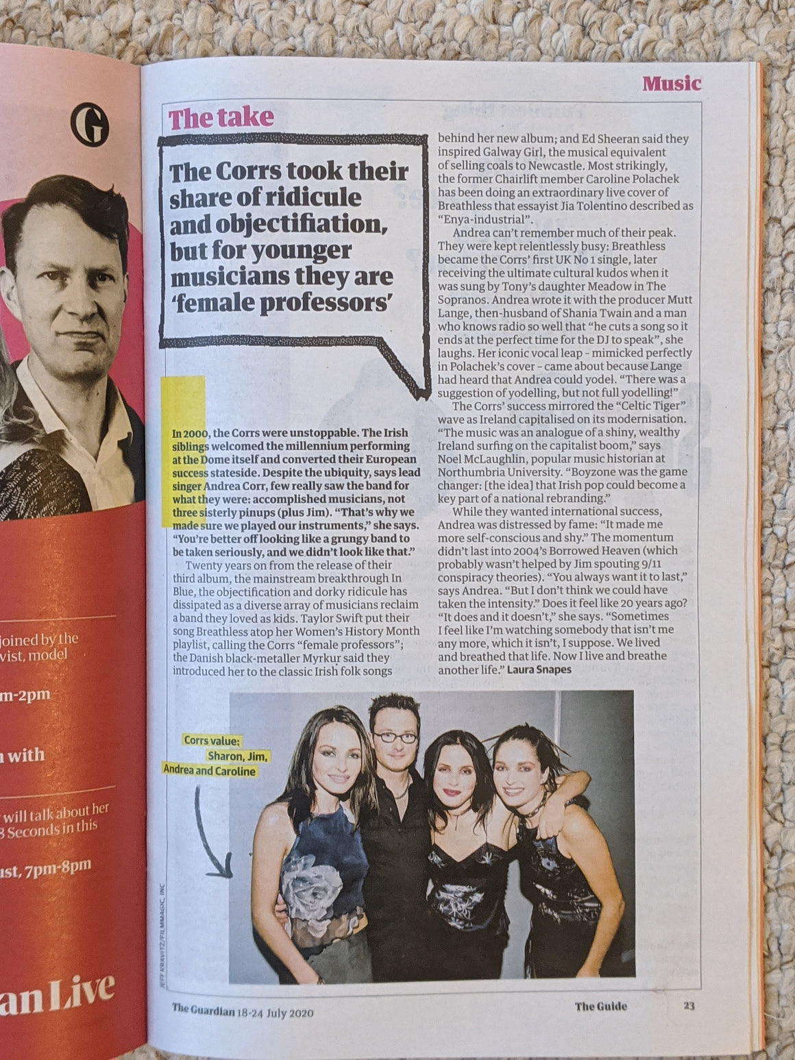 GUIDE Magazine July 2020: THE CORRS FEATURE ANDREA CORR SHARON CORR