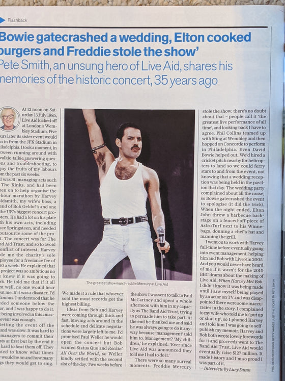 UK Telegraph Magazine 18 July 2020: Freddie Mercury Queen Elton John