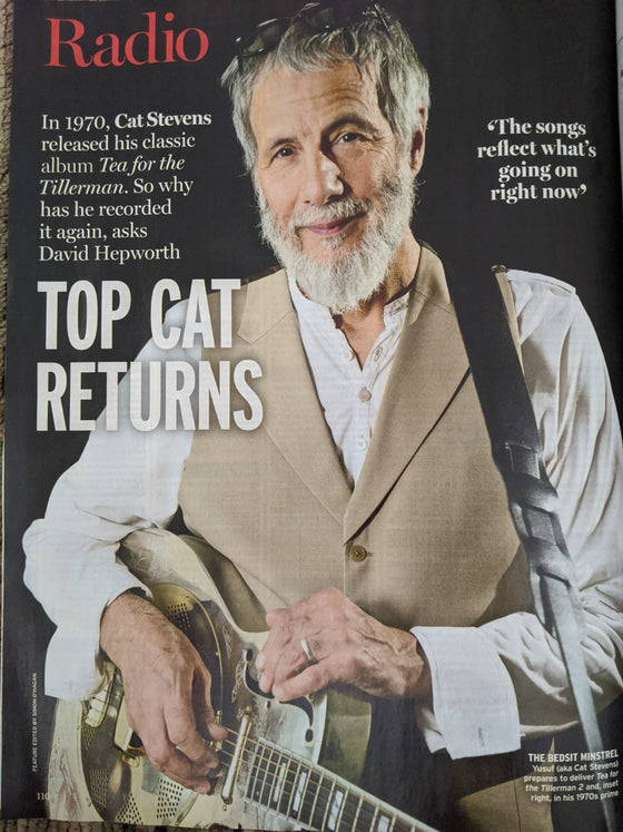 UK Radio Times Magazine 1 August 2020: CAT STEVENS David Thewlis PAUL MESCAL