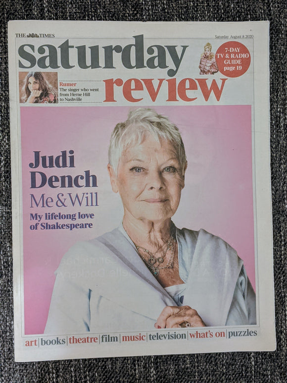 UK Times Review 8 August 2020: Judi Dench Cover Interview