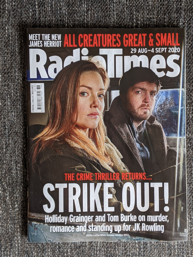 Radio Times Magazine 29 Aug 2020 TOM BURKE Holliday Grainger STRIKE