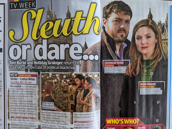 UK TV & Satellite Magazine 29 August 2020 Tom Burke Holliday Grainger