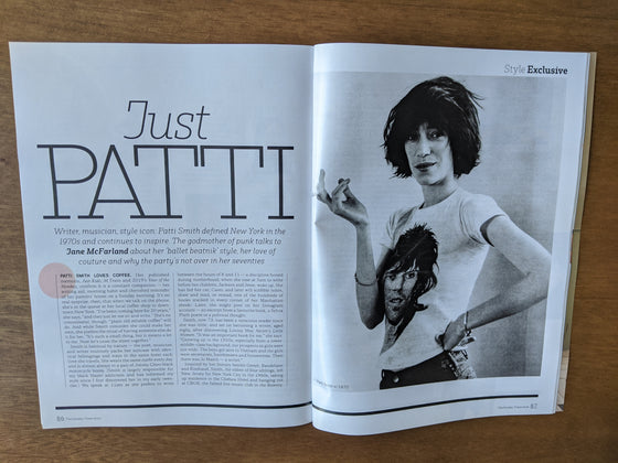 UK STYLE Magazine September 2020: PATTI SMITH AN AUDIENCE WITH INTERVIEW