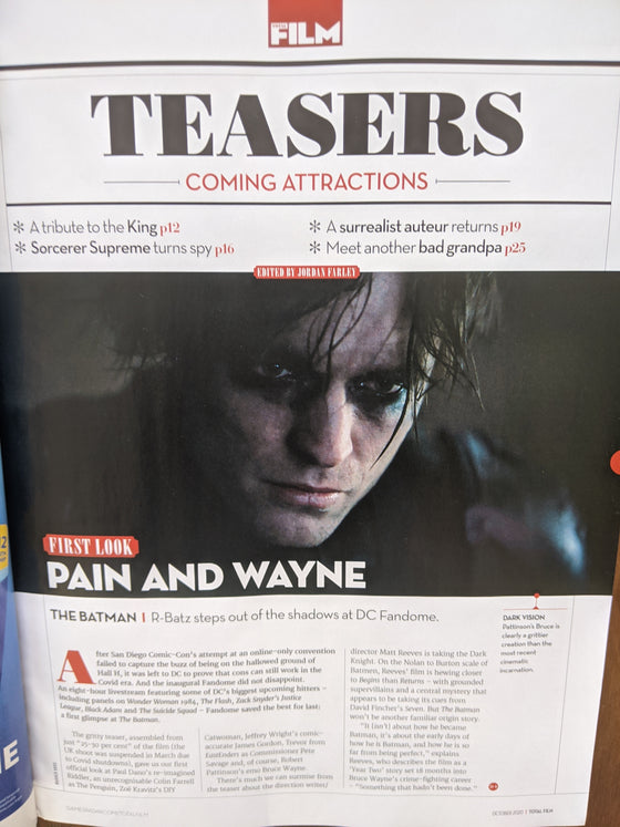UK Total Film Magazine October 2020 Robert Pattinson As Batman
