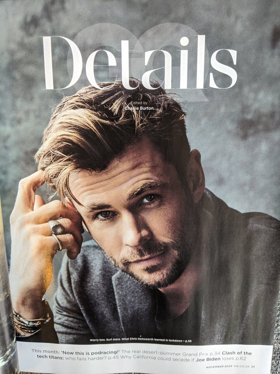 Chris Hemsworth for British GQ November 2020