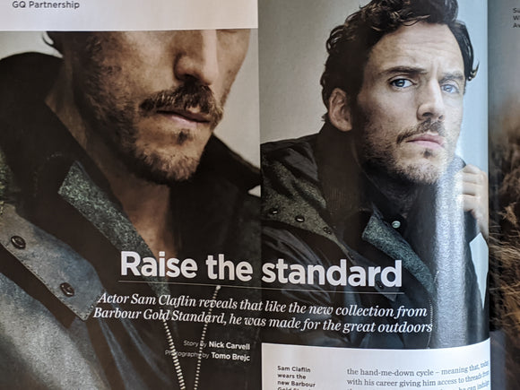 British GQ Magazine November 2020: Sam Claflin