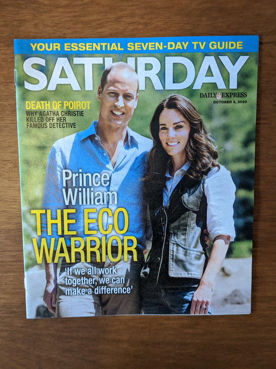 SATURDAY Mag 10/2020: PRINCE WILLIAM Kate Middleton HELEN BAXENDALE Nik Kershaw