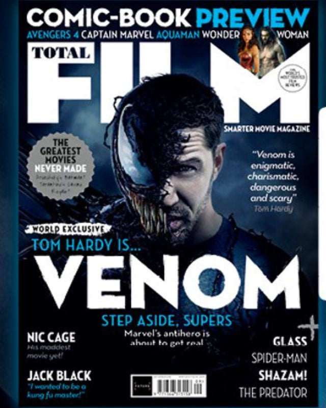 UK Total Film Magazine September 2018 Regular Cover Tom Hardy New