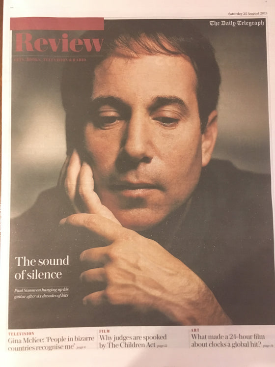 UK Telegraph Review August 2018: PAUL SIMON COVER INTERVIEW