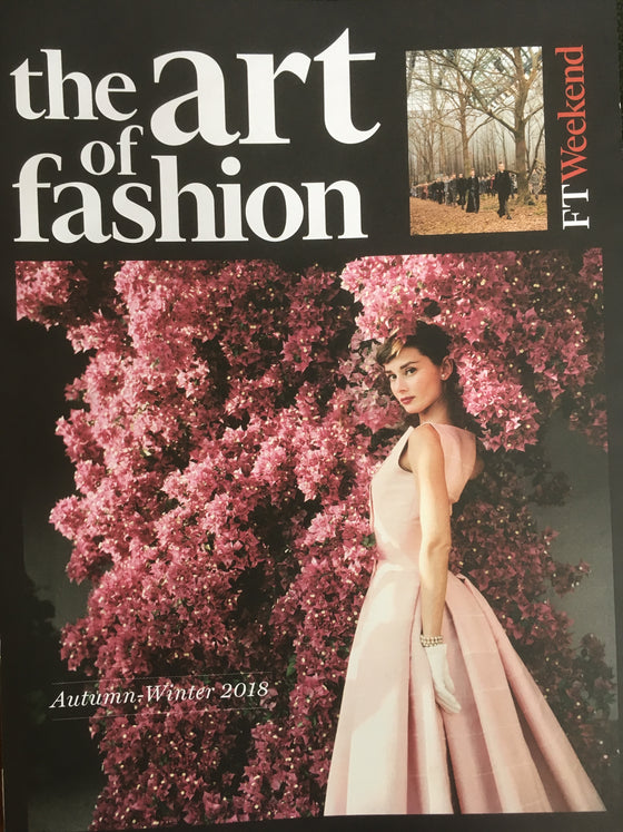 UK The Art of Fashion magazine A/W 2018 Audrey Hepburn cover & feature (Madonna)