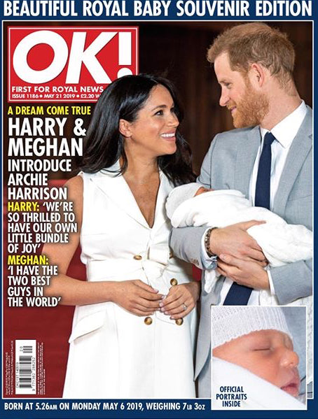 OK! magazine 21 May 2019 Meghan Markle Harry Archie - A Royal Baby souvenir