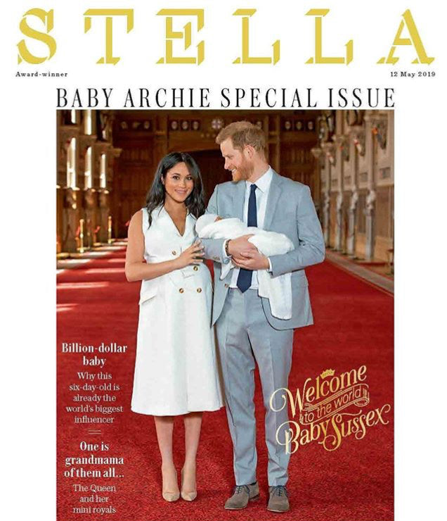 STELLA magazine 20 May 2019 Meghan Markle Harry Archie - A Royal Baby souvenir