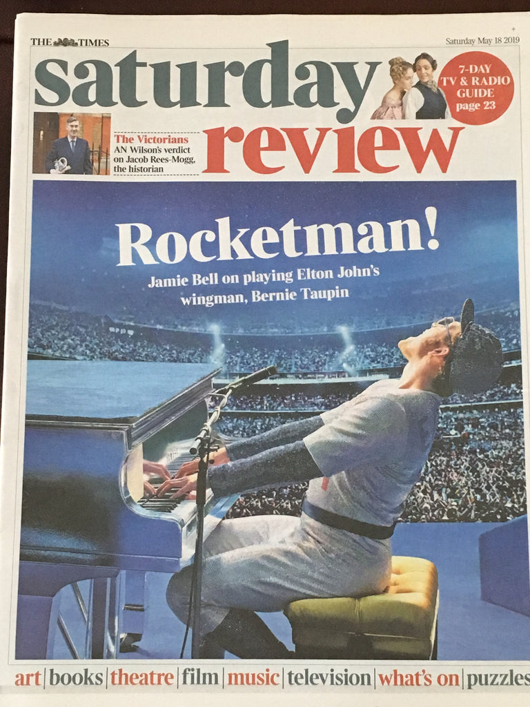 UK Times Review May 2019: ELTON JOHN Taron Egerton COVER FEATURE - ANDREW SCOTT