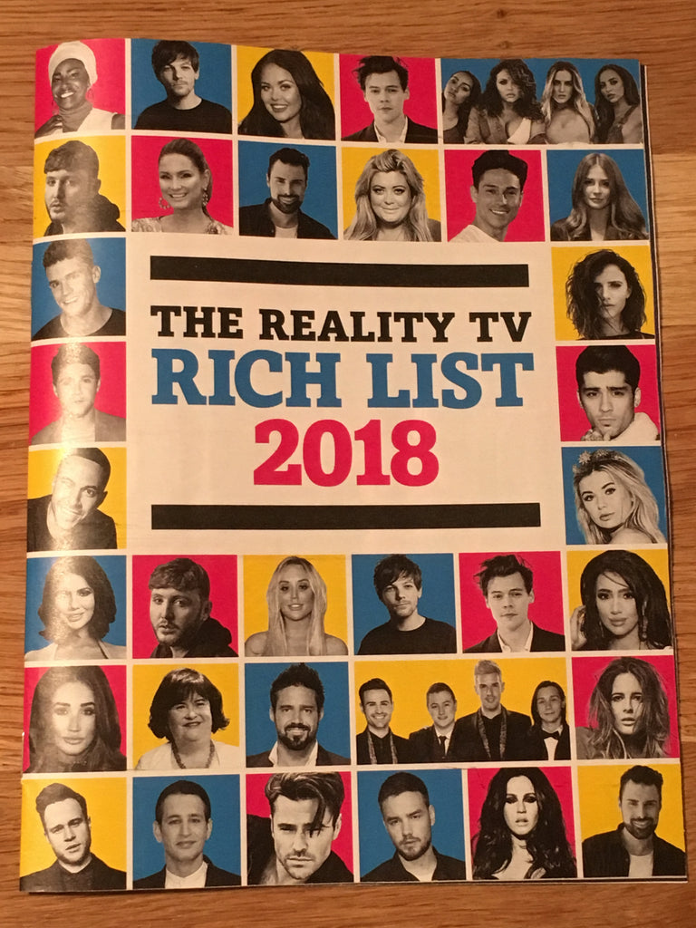 Reality TV Rich List 2018: HARRY STYLES Zayn Malik LOUIS TOMLINSON Niall Horan LIAM PAYNE