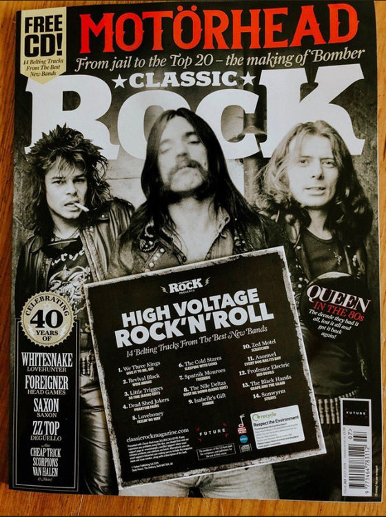 Classic Rock Magazine July 2019: Motorhead - The Making Of Bomber - Queen