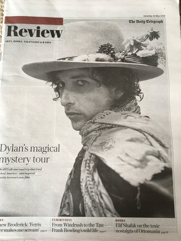 UK Telegraph Review 25 May 2019: Bob Dylan Cover And Feature