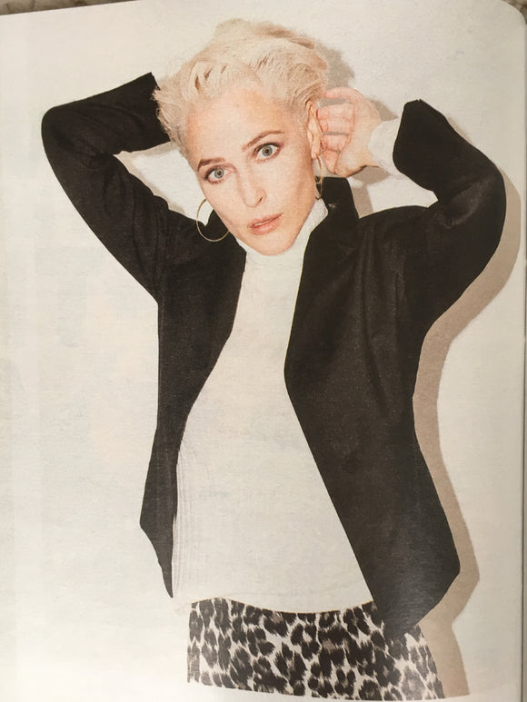 UK TIMES MAGAZINE September 2018: Gillian Anderson Shoot
