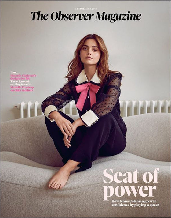 UK Observer magazine 16 Sept 2018 Jenna Coleman Cover Story