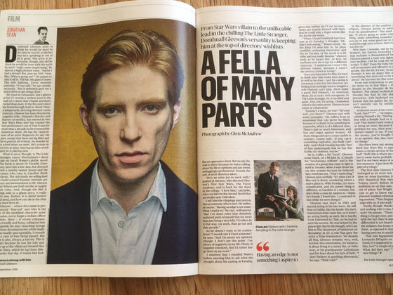 UK CULTURE magazine September 2018: Domhnall Gleeson Glenn Close John Grant