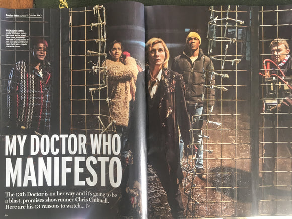 UK Radio Times Magazine September 2018: Jodie Whittaker Doctor Who Jenna Coleman