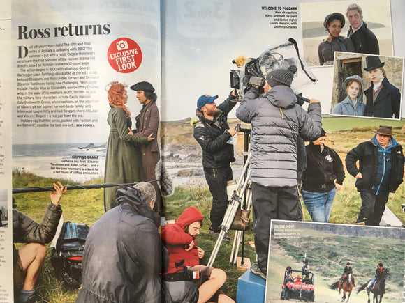 UK Radio Times Magazine 15 June 2019 AIDAN TURNER Poldark Exclusive First Look