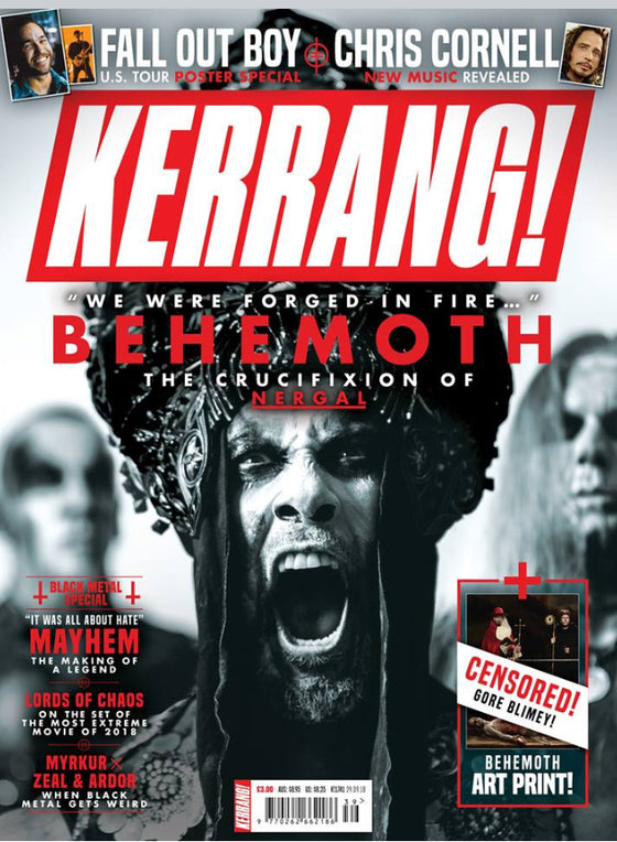 Uk Kerrang! Magazine September 2018 Behemoth Chris Cornell Fall Out Boy Mayhem