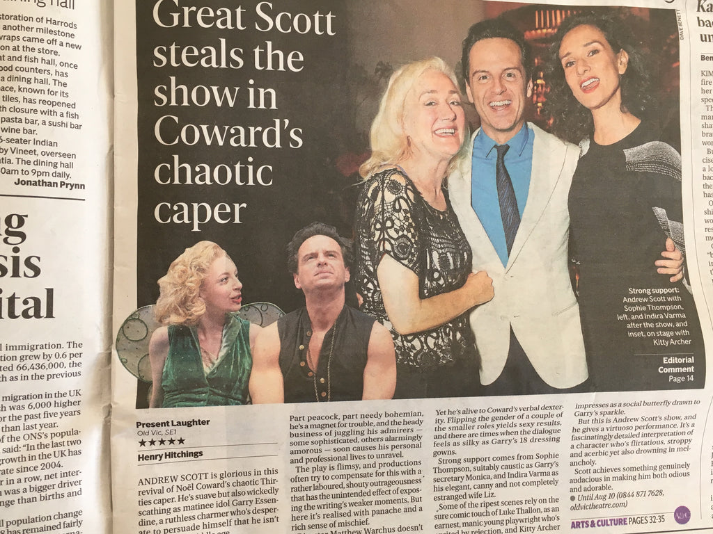 London Evening Standard 26 June 2019: Andrew Scott in Present Laughter