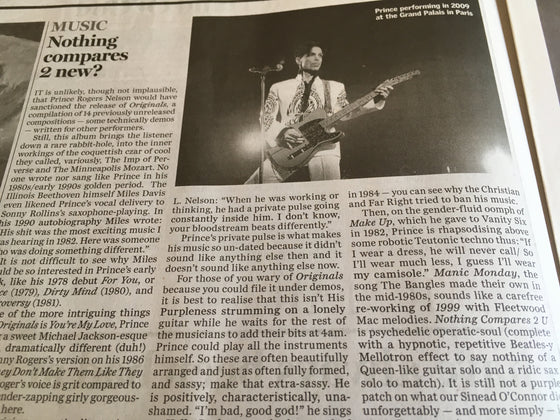 Irish Independent Living 30 July 2019: PRINCE FEATURE