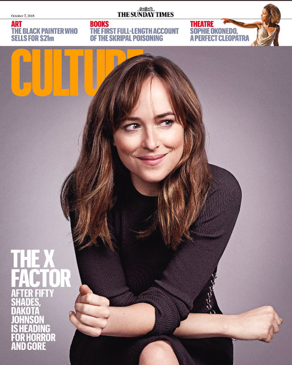 UK Culture Magazine 7th October 2018: Dakota Johnson Fifty Shades Jamie Dornan Exclusive