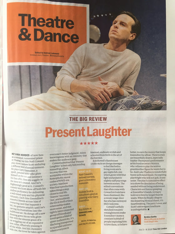 London Time Out Magazine July 2019 Andrew Scott Feature