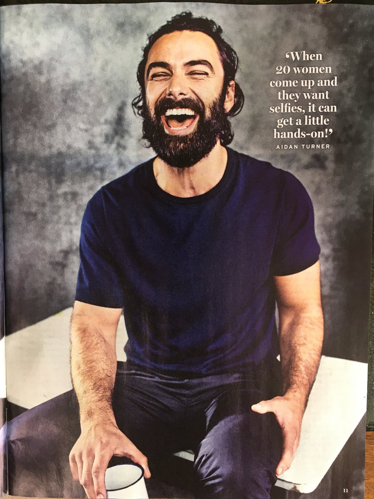 UK Radio Times Magazine 13th July 2019: Aidan Turner (Poldark) Farewell Interview