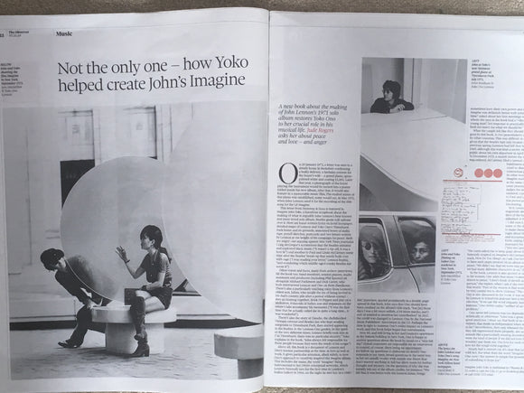 YOKO ONO - Exclusive Interview on JOHN LENNON The Beatles UK Observer 7th October 2018