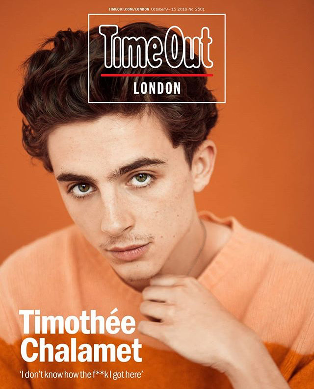 London Time Out Magazine October 2018: Call Me By Your Name TIMOTHEE CHALAMET COVER STORY