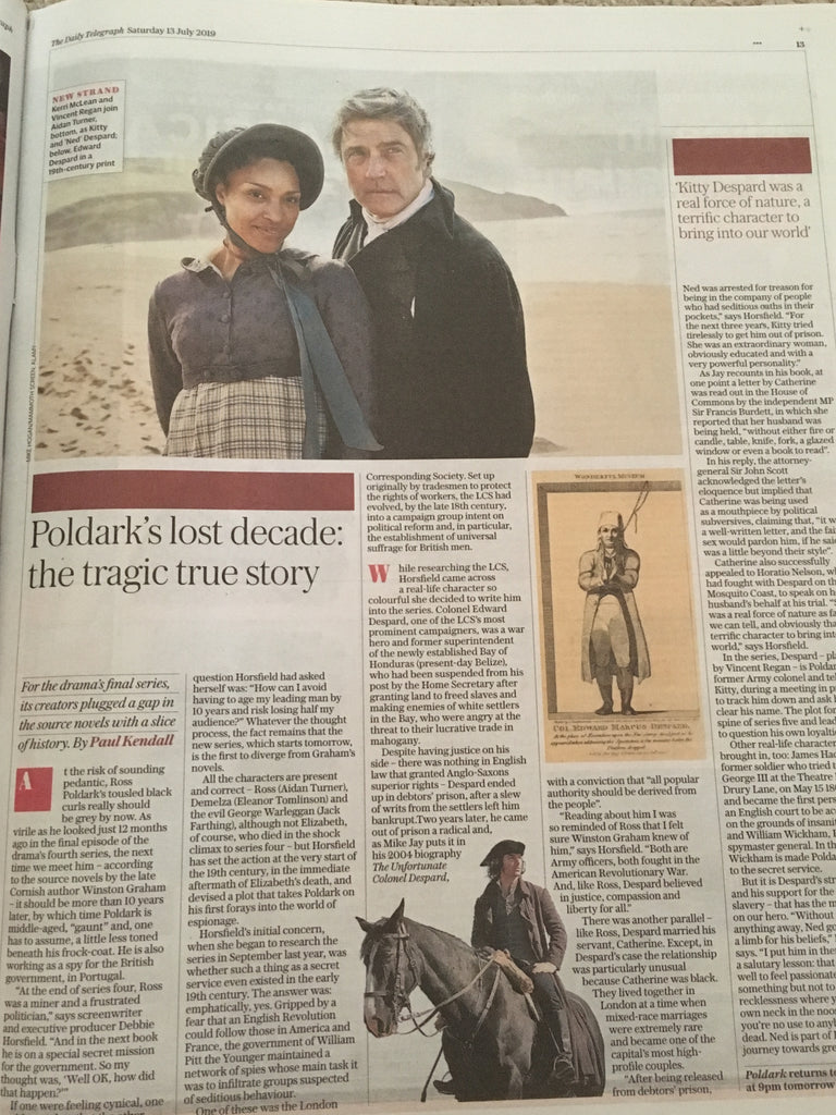 UK Telegraph Review 13 July 2019: Aidan Turner Poldark Feature