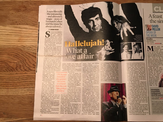 EVENT Magazine July 2019: LEONARD COHEN The Beatles COLIN FIRTH Matthias Schoenaerts BARBRA STREISAND Aidan Turner
