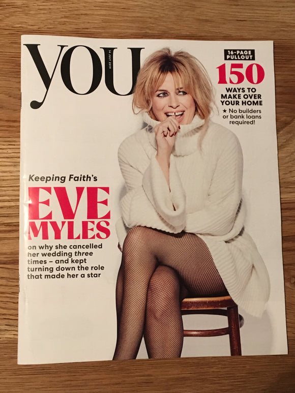 UK You Magazine July 2019: EVE MYLES COVER AND FEATURE David Bowie Toyah Wilcox