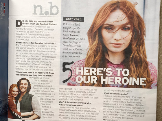 UK Notebook Magazine 14 July 2019: Eleanor Tomlinson (Poldark) Interview