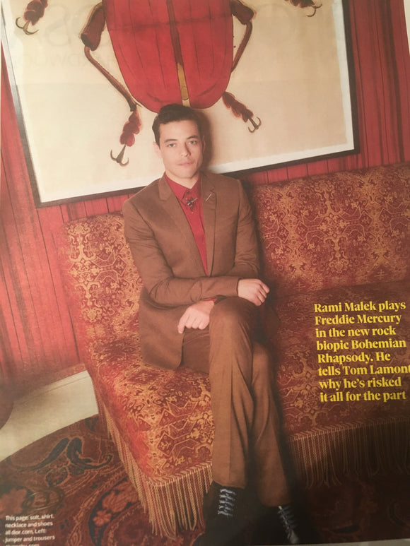 UK Observer Magazine October 2018: RAMI MALEK Photo Interview