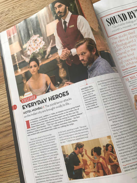 UK Total Film August 2019: ARMIE HAMMER Adam Driver CHRIS EVANS
