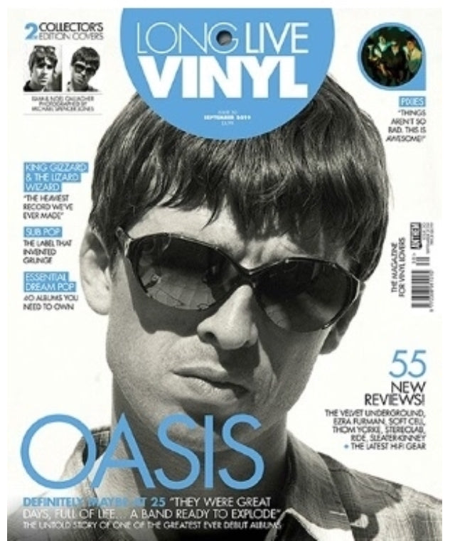 Long Live Vinyl Magazine #30: September 2019 - Oasis (Noel Gallagher Cover)