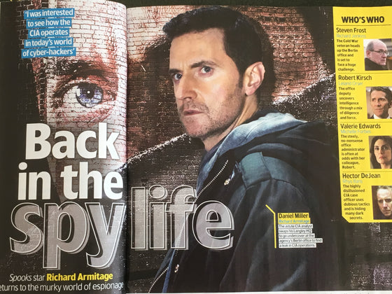UK TV & Satellite Magazine October 2018: Richard Armitage Interview