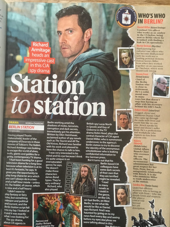 Total TV Guide Magazine 20 October 2018: Richard Armitage Interview