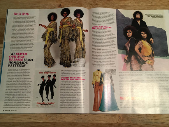 MARY WILSON (The Supremes) DIANA ROSS UK YOU MAGAZINE JULY 28th 2019