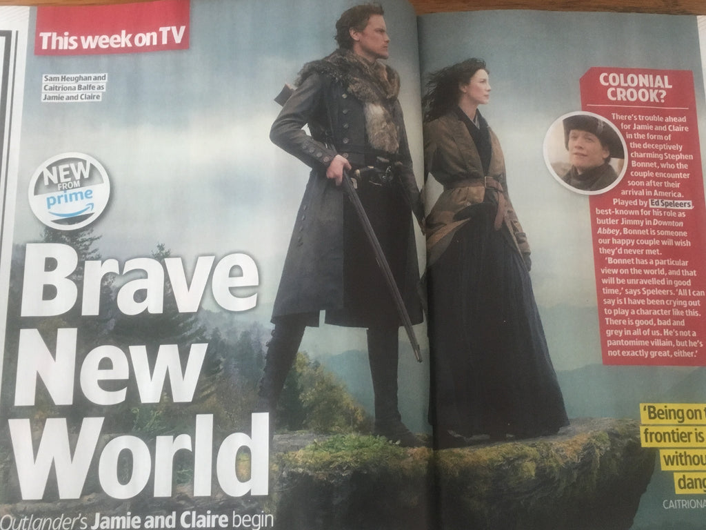 Tv & Satellite Week Magazine 3 Nov 2018: SAM HEUGHAN Caitriona Balfe Outlander
