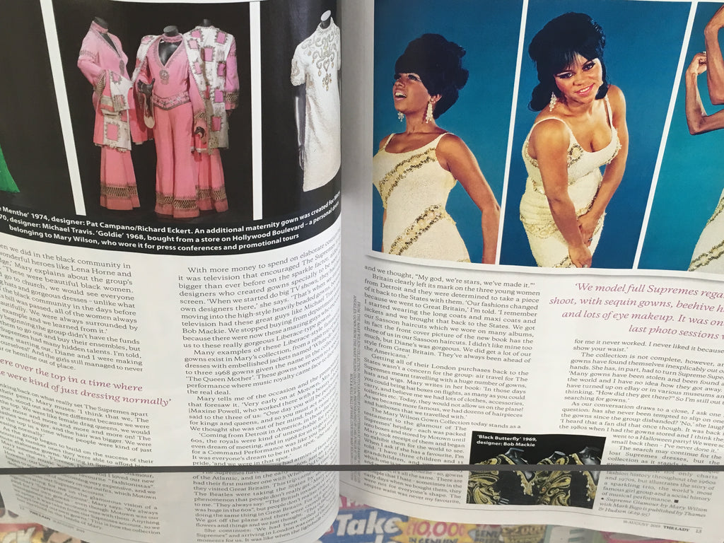 UK The Lady Magazine August 2019: MARY WILSON THE SUPREMES DIANA ROSS FEATURE
