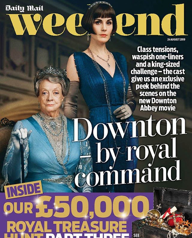 New UK Downton Abbey Weekend Magazine Cover Maggie Smith Michelle Dochery