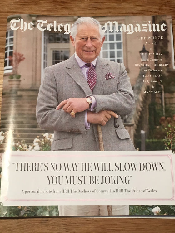 UK Telegraph Magazine 11 November 2018 Prince Charles 70th Birthday - Barry Gibb