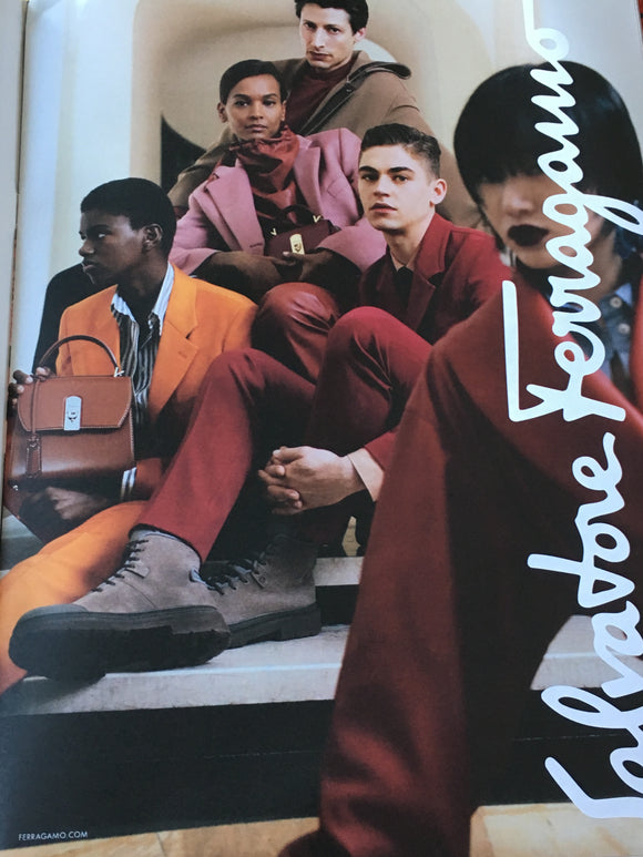 British Art of Fashion Magazine A/W 2019: HERO FIENNES TIFFIN for Salvatore Ferragamo