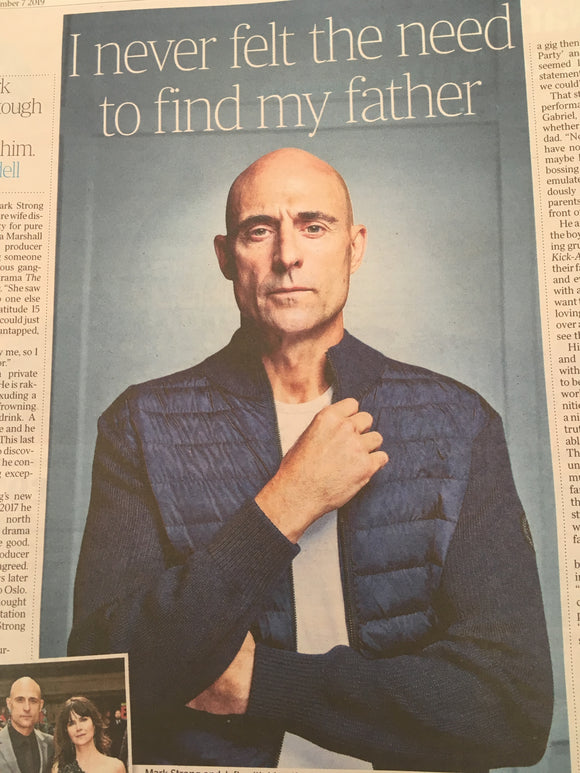 UK TIMES WEEKEND - MARK STRONG INTERVIEW - SEPTEMBER 2019