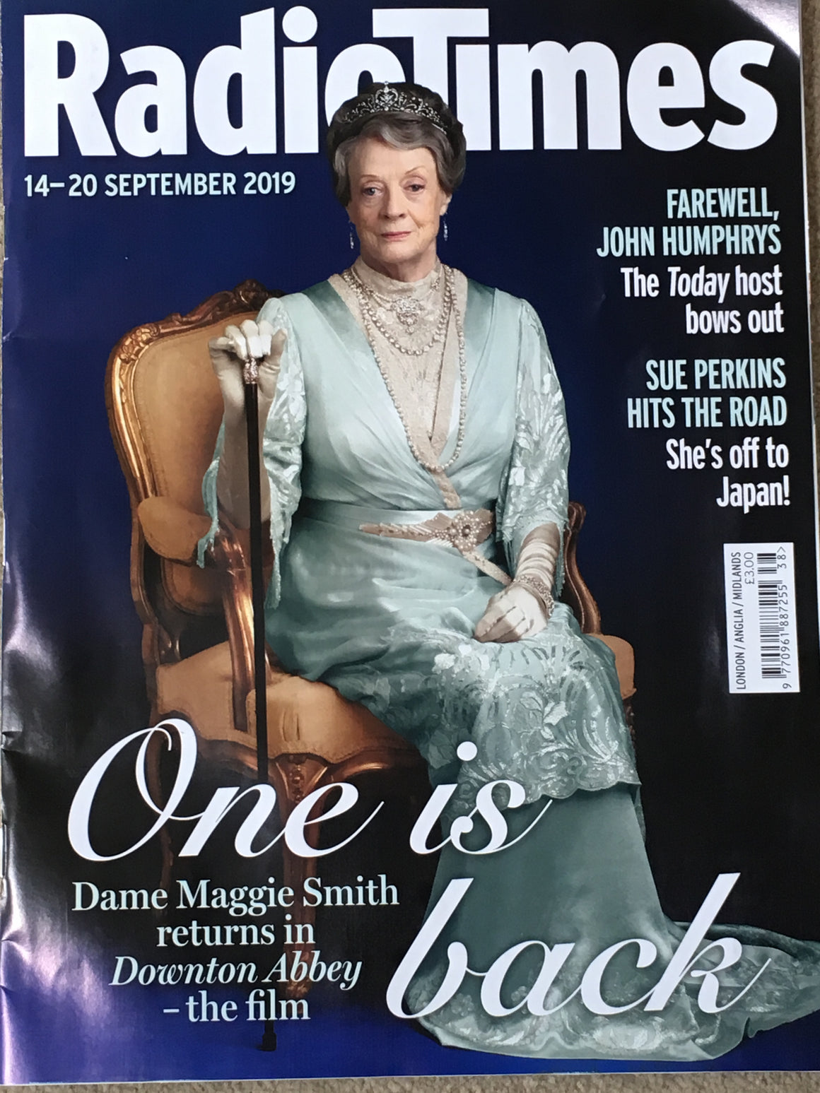 Radio Times Magazine 14 Sept 2019: DOWNTON ABBEY Maggie Smith MARTIN CLUNES Brendan Coyle